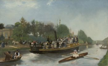 Boating between Laeken and parc Trois Fontaines in Vilvoorde by Emile Hoeterickx