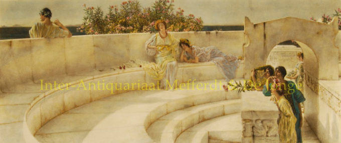 Under the roof of blue Ionian Weather by Lawrence Alma-Tadema