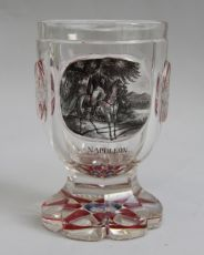Bohemian Glass, Napoleon on Horseback by Unknown Artist