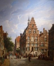Townview in Summertime (Townhall of the city Oudewater)