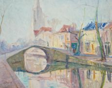 Gezicht op Delft (View on Delft) by Maurice Goth