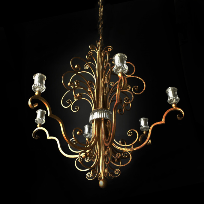Hanging lamp by Maison Baguès