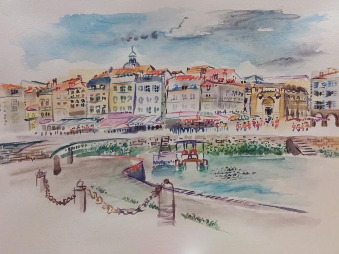Promenade in the Old Town of La Rochelle by Iam Anna