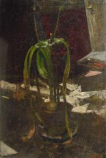 Flowerpot with blooming bulb by Gerrit Willem Dijsselhof