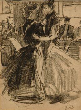 Dancing women - Amsterdam by Isaac Israels