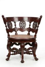 "Rotating ""Burgomaster"" chair, Ceylon/Sri Lanka by Unknown Artist"