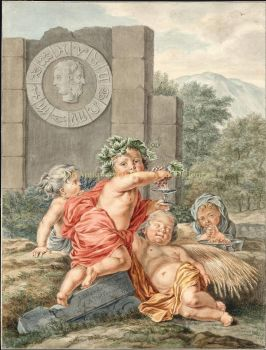 Four seasons  by  Abraham Delfos after Jan Wandelaar