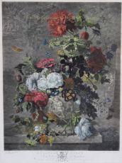 A Flower Piece, mezzotint print made by Richard Earlom  by Earlom, Richard (1743-1822)