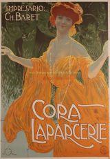Cora Laparcerie, lithograph made by Aleardo Terzi, published by Ricordi around 1900 by Terzi, Aleardo (1875-1943)