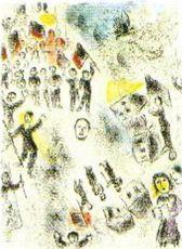 """Plate 11 (""""Celui qui les les sans rien dire"""") by Marc Chagall"""