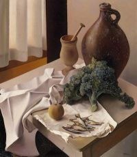 Still-life with kale by Wouter Schram