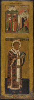 The Entry of Mother of God in the Temple  and St. John Chrysostymos by Unknown Artist