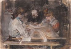 In the Sewing Room by Isaac Israels