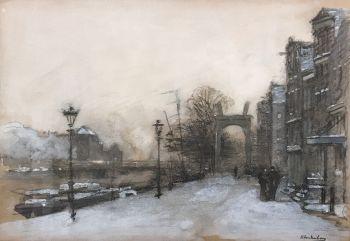 Cityscape Amsterdam by Johannes Christiaan Karel Klinkenberg