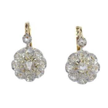 Antique French Belle Epoque diamond earrings by Unknown Artist