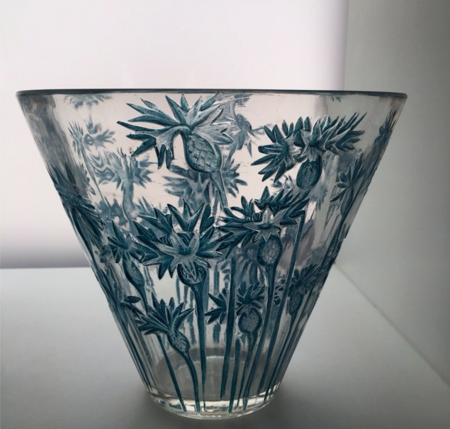 An early vase 'Bluets' designed by Rene Lalique (1860-1945) by René Lalique