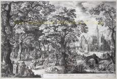 Feest in het Bos by Bruyn, Nicolaes de (1571-1656)