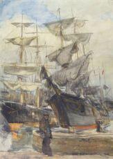 Tallships (The docks of London) by Ko Cossaar