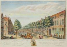 Den Haag Prinsegracht by Scheurleer, Hendrik Florisz. (1692-1768)