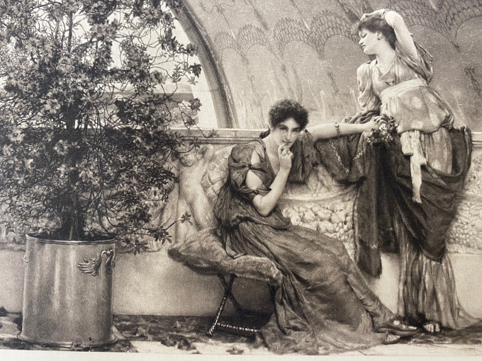 Unconscious Rivals  by Lawrence Alma-Tadema