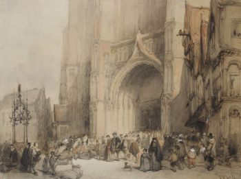 The cathedral of Antwerpen by Johannes Bosboom