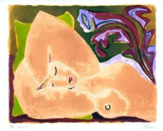 Reclining nude with flower I
