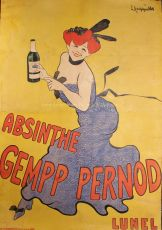 Absinthe Gempp Pernod - Lunel, advertising poster from c. 1908 by Cappiello, Leonetto (1875-1942)