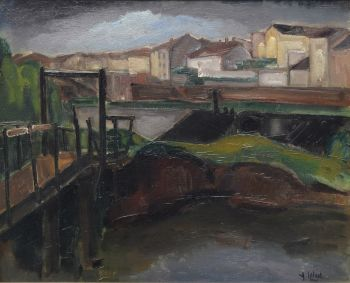 View of a French village, Samois sur Seine. by Arnout Colnot