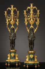 Pair of Large French Empire Candelabra