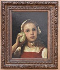 Young girl listening by Jacob Maris
