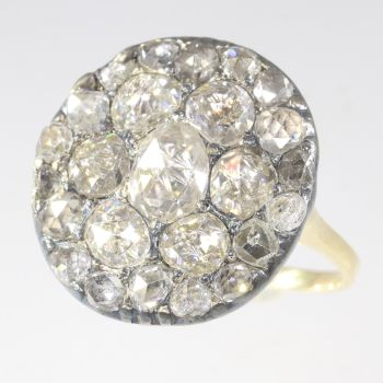 Vintage antique Georgian diamond cluster ring by Unknown Artist