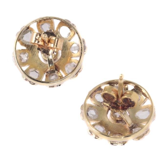 Belle Epoque / Art Deco diamond earstuds by Unknown Artist