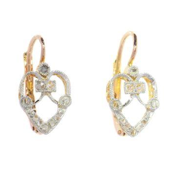 Charming Belle Epoque diamond earrings by Unknown Artist