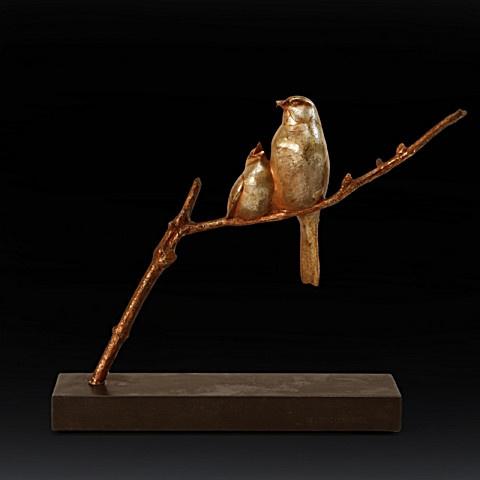 Two bronze birds  by André Vincent Becquerel