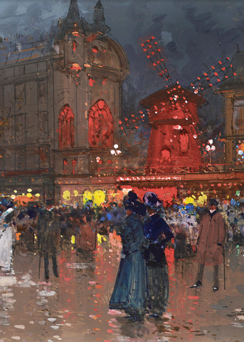 Le Moulin Rouge by Eugène Galien-Laloue