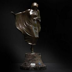 Art deco sculpture of expressionist dancer (Mary Wigman) by Berthold Stölzer