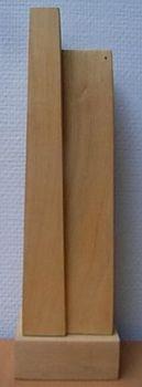 ruimtelijk gevlakt hout / spatially planed wood  by Maurice Brams