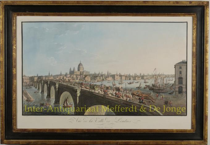 VIEW OF LONDON WITH BLACKFRIARS BRIDGE  by Runk, Friedrich Ferdinand
