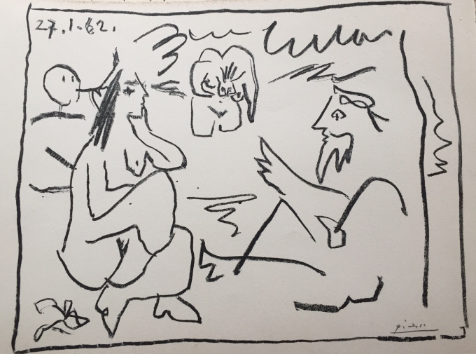 A rare signed lithograph by Pablo Picasso circa 1960 by Pablo Picasso