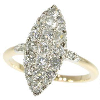Belle Epoque old mine brilliant cut diamonds engagement ring by Unknown Artist