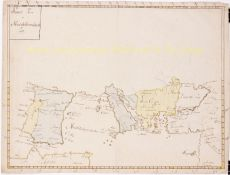 Manuscript map Mediterranean 19th century by Unknown Artist