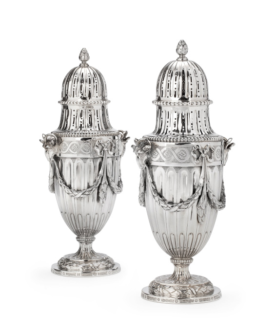 A pair of sugar casters by Unknown Artist