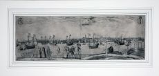Important 16th-century view of Amsterdam as seen from the IJ by Pieter Bast
