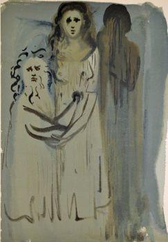 Divina commedia purgatorio 16 by Salvador Dali