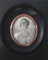 Portrait miniature of Caroline Bonaparte by Unknown Artist