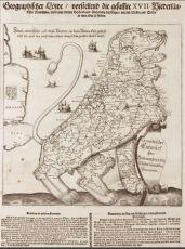 Leeuwekaart van de XVII provinciën by Wilhelm Serlin