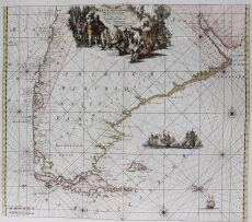 South America, Tierra del Fuego  by  Reinier and Josua Ottens