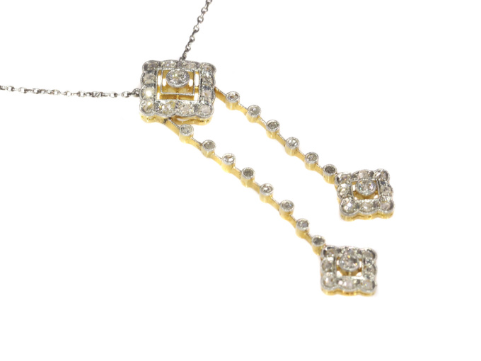Art Deco Edwardian diamond necklace by Unknown Artist
