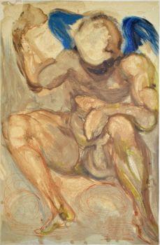 Divina commedia purgatorio 15 by Salvador Dali