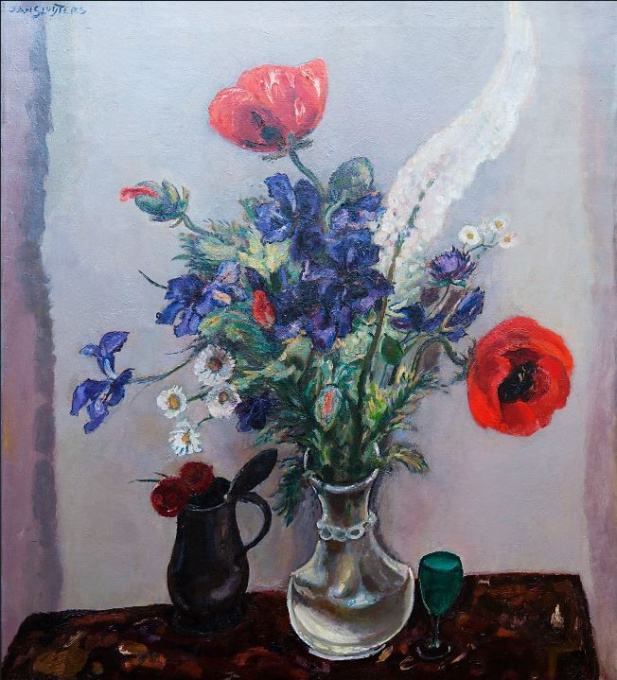 Still life with poppies and irises by Jan Sluijters